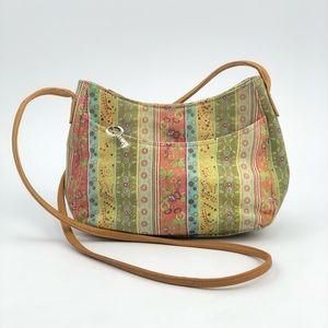 Fossil Floral Leather Shoulder Bag